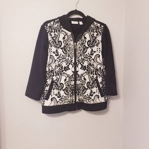 Zenergy by chico's floral zip up hoodie jacket